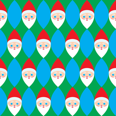 Santa Head Weave fabric by amyperrotti on Spoonflower - custom fabric