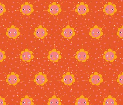 Sky Safari Sun fabric by zesti on Spoonflower - custom fabric
