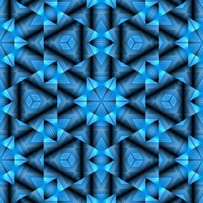 Blue and Black 3D Geometric