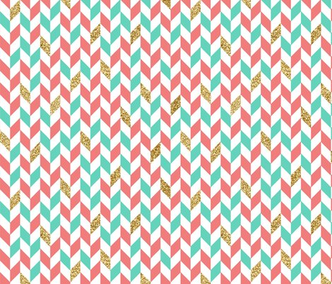 Pink And Gold Chevron Background Download