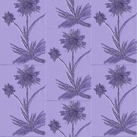 Aster postcards fabric by atlas_&_tootsie on Spoonflower - custom fabric