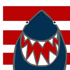 Sharky sharks pillow panel