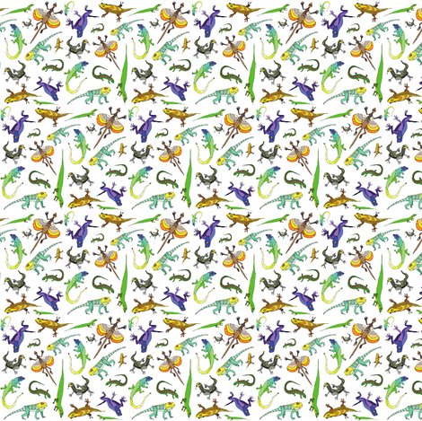 lizards fabric by lorose on Spoonflower - custom fabric