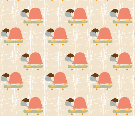 Turtle Fashionista fabric by minimadesign on Spoonflower - custom fabric