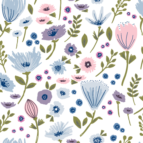 Garden Floral fabric by rebecca_stoner on Spoonflower - custom fabric