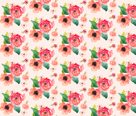 "9"" Floral Dreams / PINK fabric by shopcabin on Spoonflower - custom fabric"