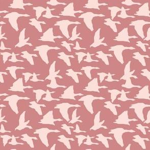 Birds in mauve