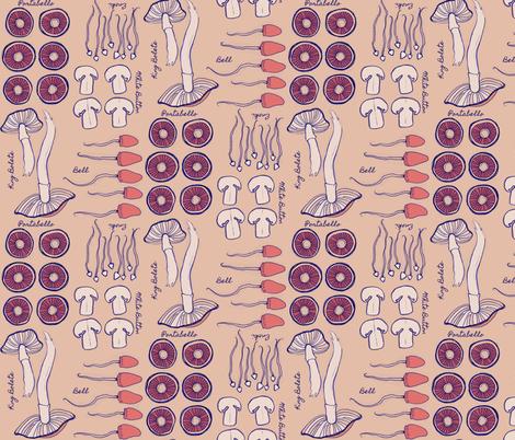 Mushroom Classifications fabric by knatalie_meredith on Spoonflower - custom fabric