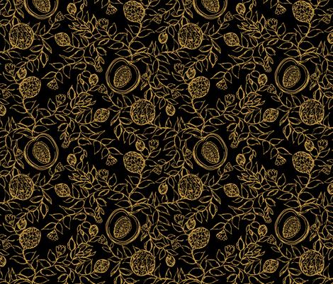 Cantaloupes Simple Black fabric by pond_ripple on Spoonflower - custom fabric