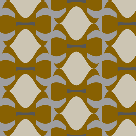 Llewellyn (Ochre) fabric by david_kent_collections on Spoonflower - custom fabric