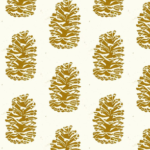 longleaf pinecone gold on cream