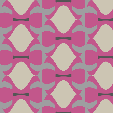 Llewellyn (Pink) fabric by david_kent_collections on Spoonflower - custom fabric