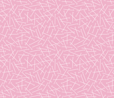 Hairpins: Bubblegum Pink fabric by nadiahassan on Spoonflower - custom fabric