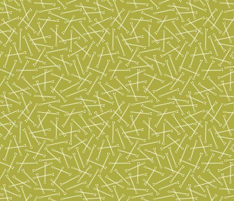Hairpins Olive Green Fabric Nadiahassan Spoonflower