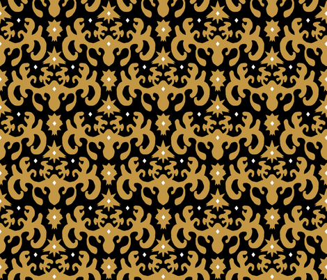 Ink Blot Damask  fabric by pond_ripple on Spoonflower - custom fabric