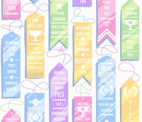 State Fair Prize Ribbons fabric by logan_spector on Spoonflower - custom fabric