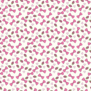 Bows and raspberries