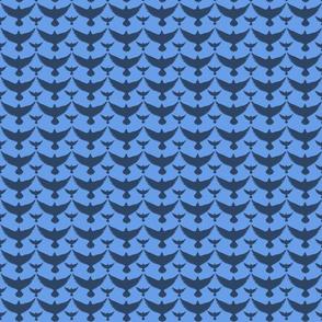 dark birds on blue small
