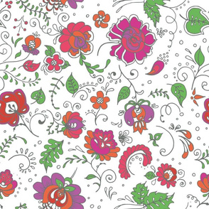 Beautiful 50-s style floral pattern