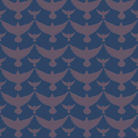 brown birds on dark small  fabric by kimberlehi on Spoonflower - custom fabric