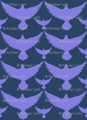 purple birds on dark