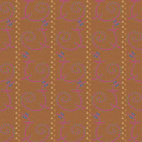 Buttoned Lizards in a Stripe fabric - anniedeb - Spoonflower