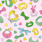 Collars and bow-ties pastel colored pattern