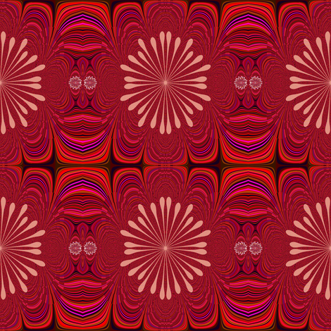 Rose Fractal fabric by chinaberries_studio on Spoonflower - custom fabric