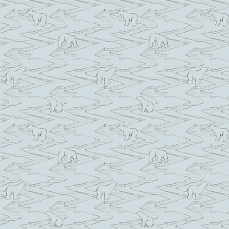 Ice Bear - Blue/Grey fabric by gail_mcneillie on Spoonflower - custom fabric