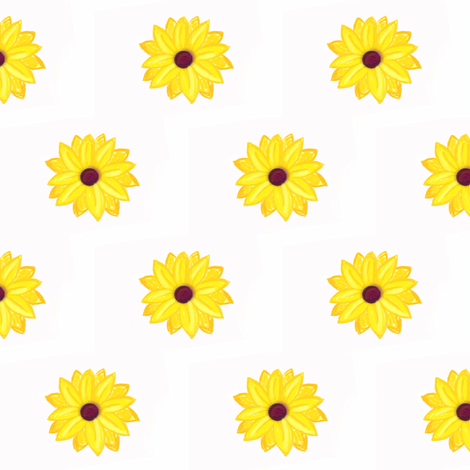 Sunflower Patch fabric by megan1185 on Spoonflower - custom fabric