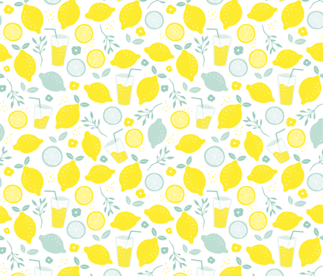 Hot summer lime and lemon fruit colorful lemonade for Kitchen print wallpaper