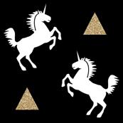 unicorn black gold glitter