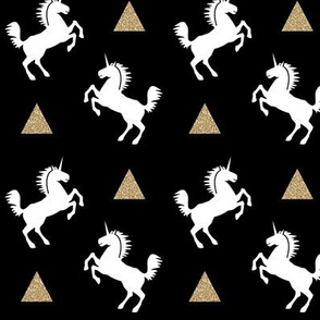 unicorn black gold glitter
