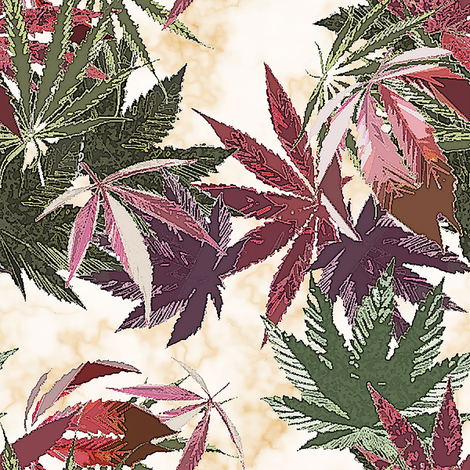 Marijuana Mix Marble (R) fabric by camomoto on Spoonflower - custom fabric