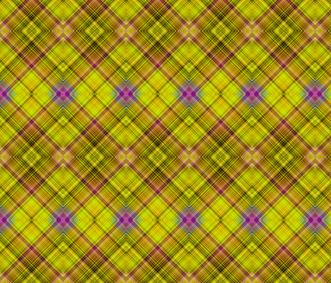 BUTTERFLIES EXOTIC JUNGLE Diagonal Plaid Green fabric by paysmage on Spoonflower - custom fabric