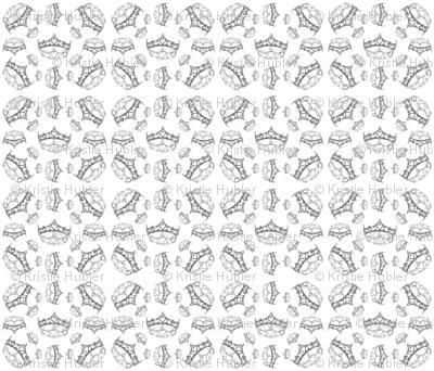 QueenOfHeartsSilverCrownByKristieHublerFabricPatternDesign42x36in150dpi