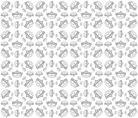 QueenOfHeartsSilverCrownByKristieHublerFabricPatternDesign42x36in150dpi fabric by fabricatedframes on Spoonflower - custom fabric