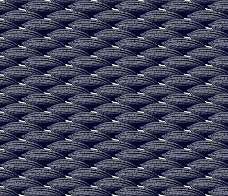 cacaopod tropical indigo blue fabric by glimmericks on Spoonflower - custom fabric