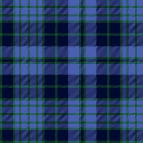 "Clergy tartan, 6"" blue/green"