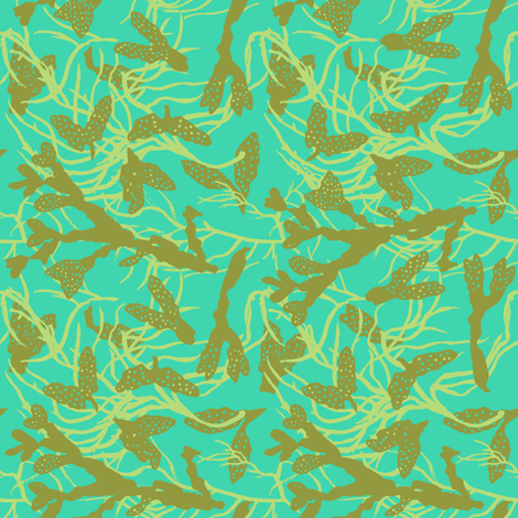 Seaweed Mingling fabric by aldea on Spoonflower - custom fabric