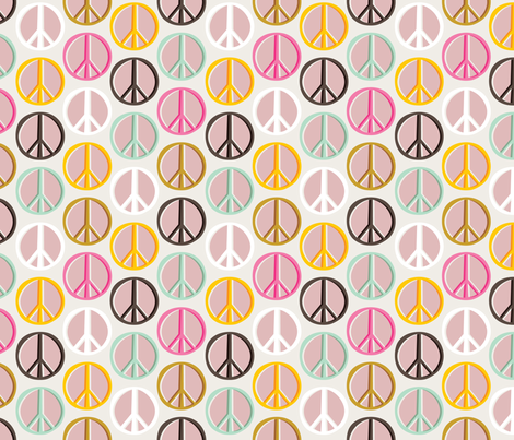 Peace Signs: Ice Cream Shop fabric by nadiahassan on Spoonflower - custom fabric