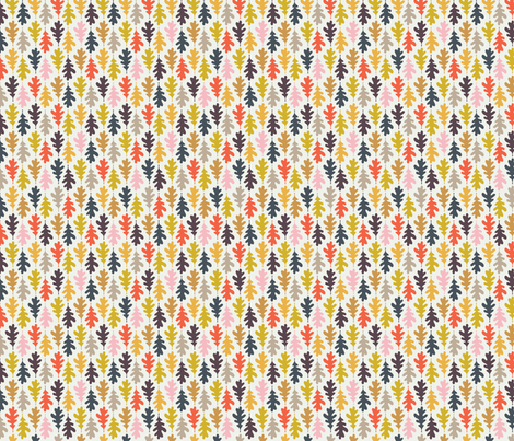 Autumn Leaves: Fall Spectrum fabric by nadiahassan on Spoonflower - custom fabric