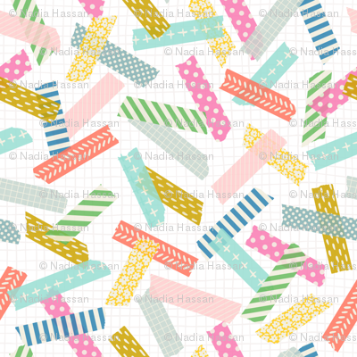Patterned Washi Tape: Brights