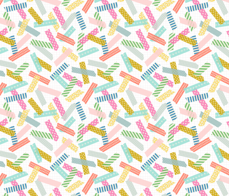 Patterned Washi Tape: Brights fabric by nadiahassan on Spoonflower - custom fabric