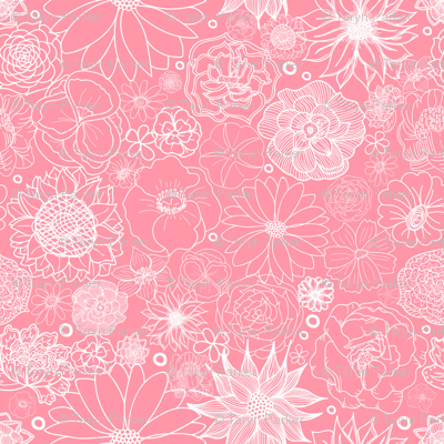 White on Pink Floral