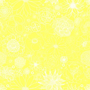 White on Yellow Floral