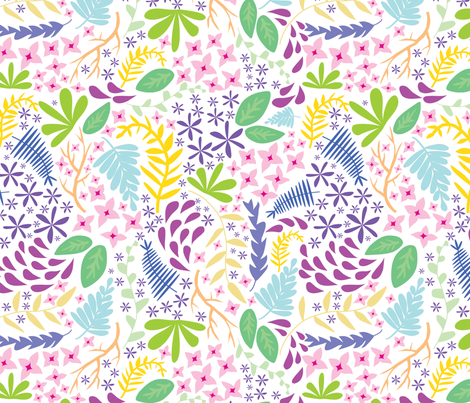 Colorful Floral fabric by lprspr on Spoonflower - custom fabric