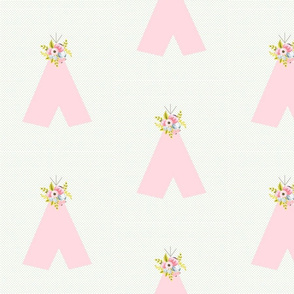 floral teepee on dots
