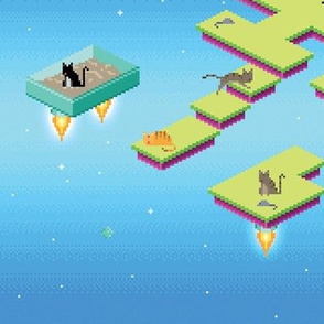 Pixel Cats in Space - Day