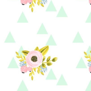 flower triangles - mint